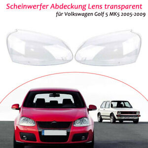 Scheinwerfer-Abdeckung-Lens-transparent-fuer-Volkswagen-Golf-5-MK5-2005-2009