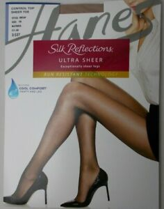 8ca953f6af3a Image is loading Pantyhose-Hanes-Silk-Reflections-Control-Top-Sheer-Toe-
