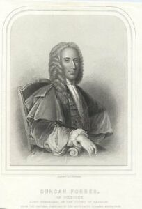 Duncan-Forbes-Lord-Culloden-Scottish-Politician-Judge-Antique-Portrait