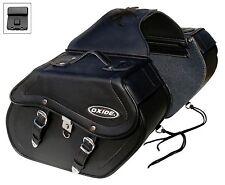 Oxide Rider Premium 36l Motorcycle Saddle Bags | Tek Leather Motorbike Panniers