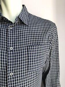 John Varvatos Shirt, Marina Plaid, Large, Excellent Condition