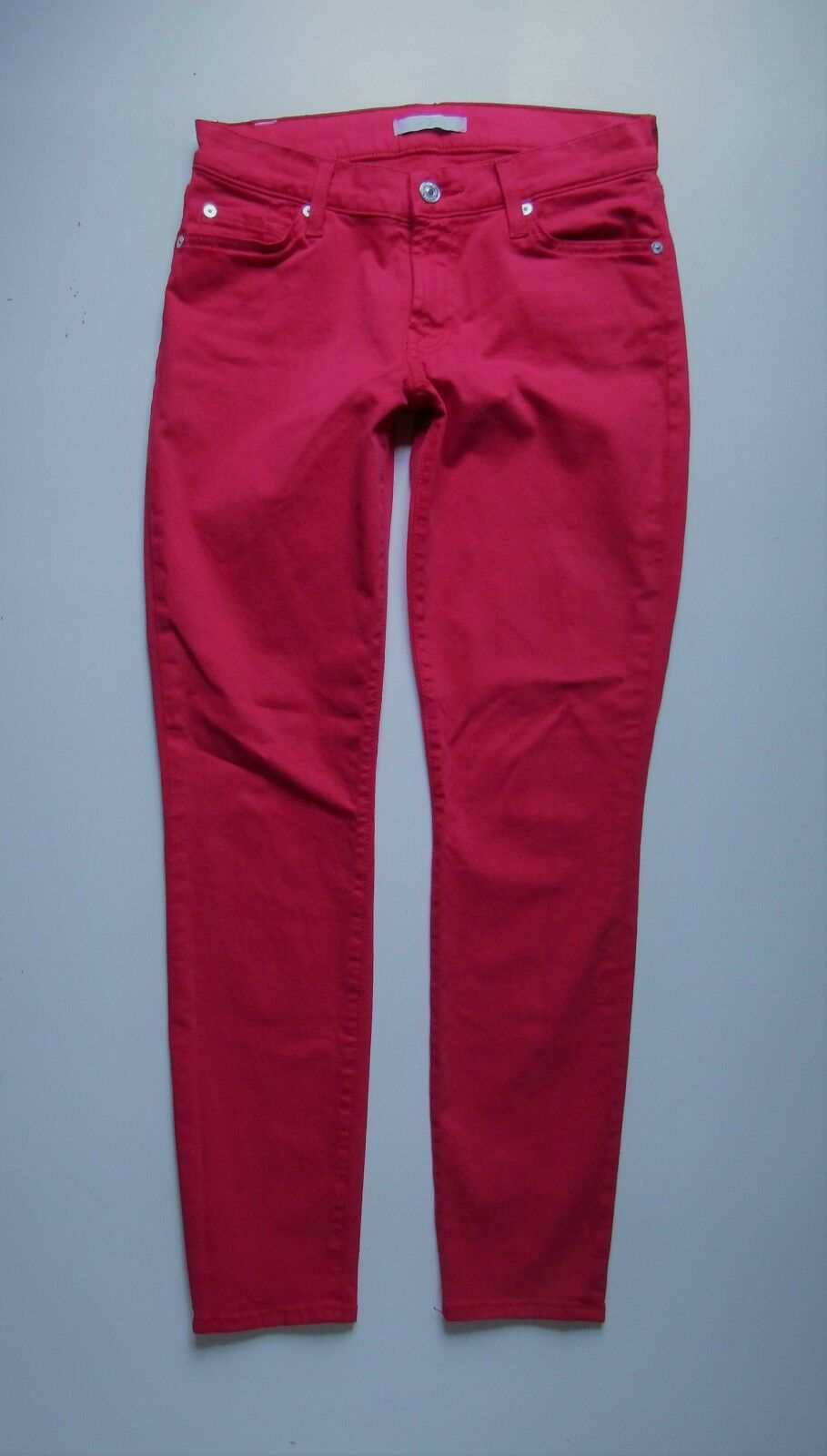 7 Seven For All Mankind Skinny Ankle Stretch Jean in Red Pink - Size 27