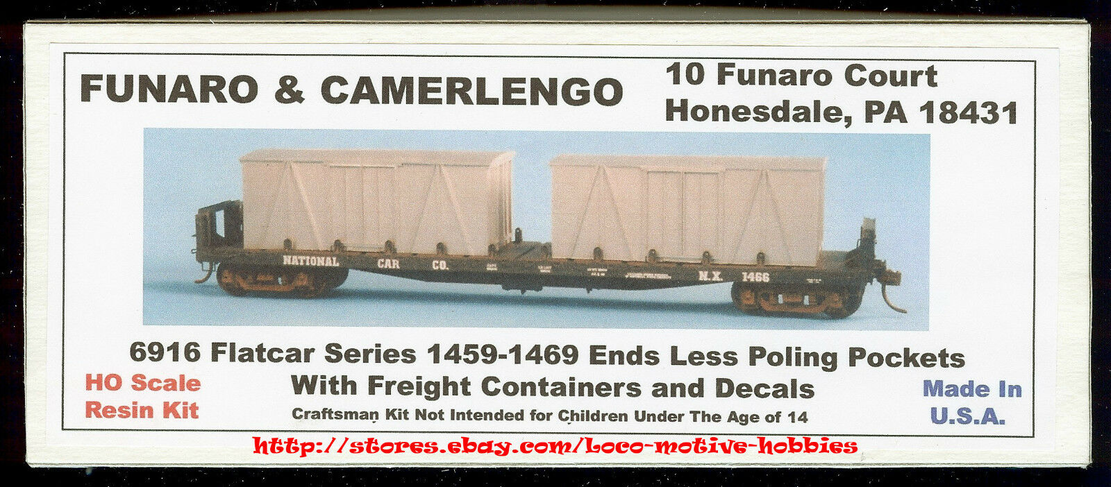 Funaro F&c 6916 Nazionale Auto Co.15.8m Vagone   Merci Container Crates Kit
