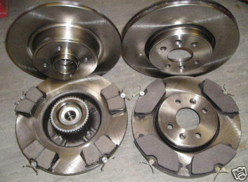 RENAULT SCENIC FRONT /& REAR BRAKE DISCS AND PADS c//w BEARINGS ABS RINGS /'99-03