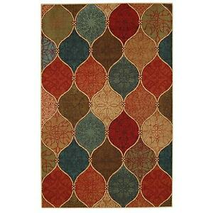 8x10 7 6 X 10 Contemporary Modern Geometric Multi Color Area Rug