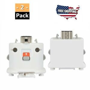 2 Pack Motion Plus Adapter Sensor Fit for Nintendo Wii Remote Controller