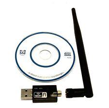 Mbit 300 Mini Wifi Wlan Wireless Adapter USB 2.0 Stick Dongle mit Antenne für PC
