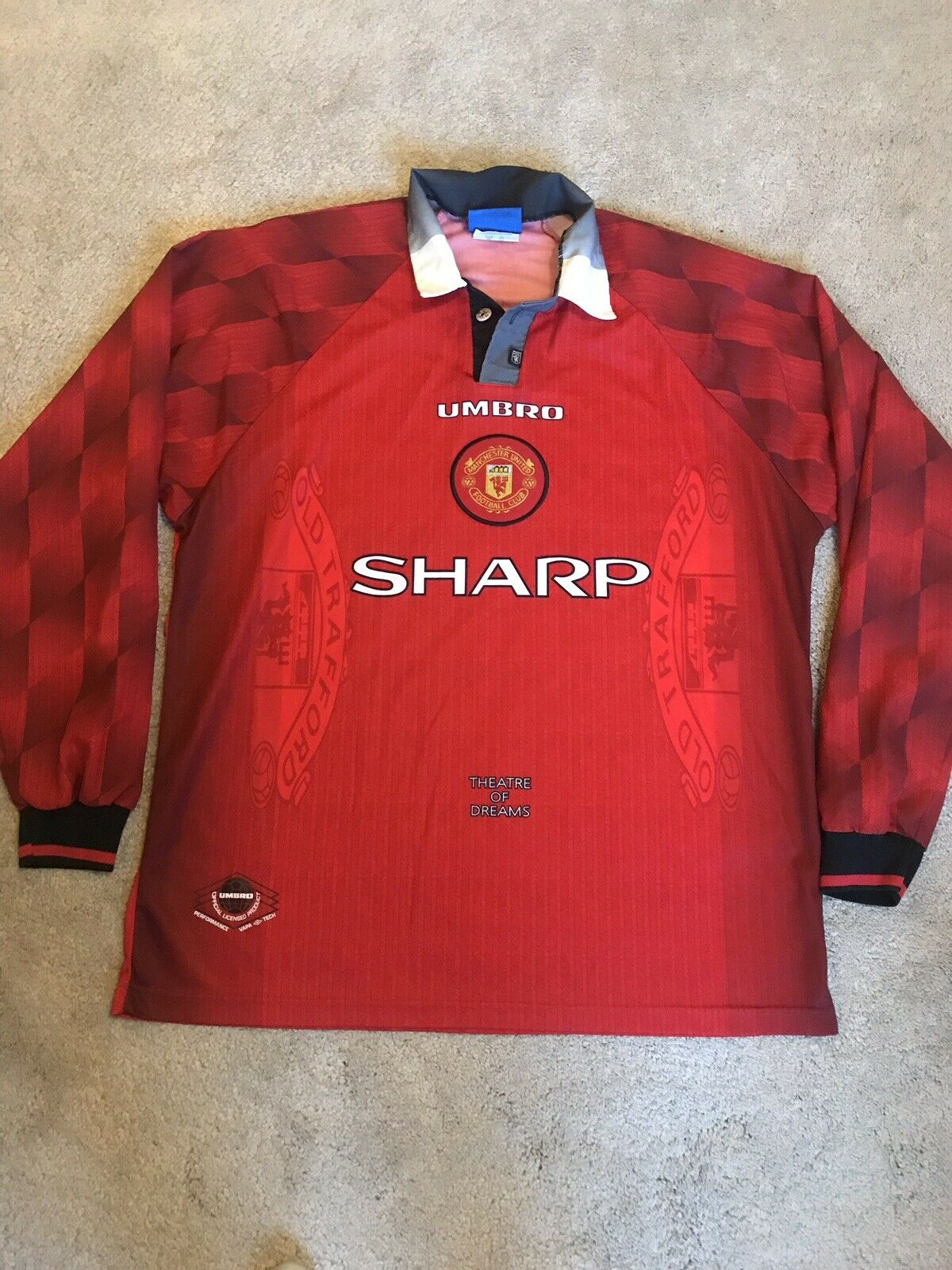 uomochester United Home Camicia 199698 Adulti Extra gree XL uomoICA LUNGA