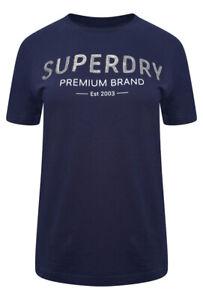 Camisa-para-mujer-Premium-Lentejuelas-T-Shirt-Atlantico-Azul-marino