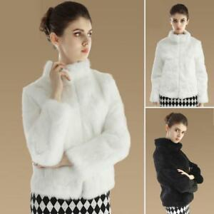 Women s Real Rabbit Fur Coat Long Sleeve Real Fur Jacket New Design ... 2b50cdbe8d