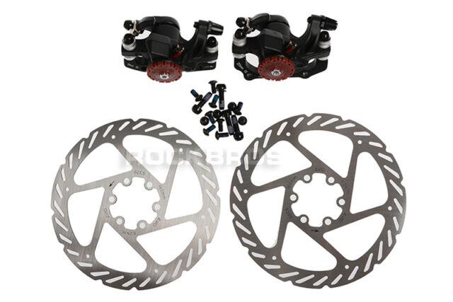 Mechanical Disc Brake Bike Cycling Bicycle Front Rear Caliper Rotors YN