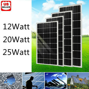 Details about 12W 20W 25W Watts Solar Panel 12V Poly Off Grid Battery Charger for RV Boat Home