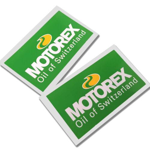 Motorex sponsor  stickers  motorcycle decals custom graphics x 2 small