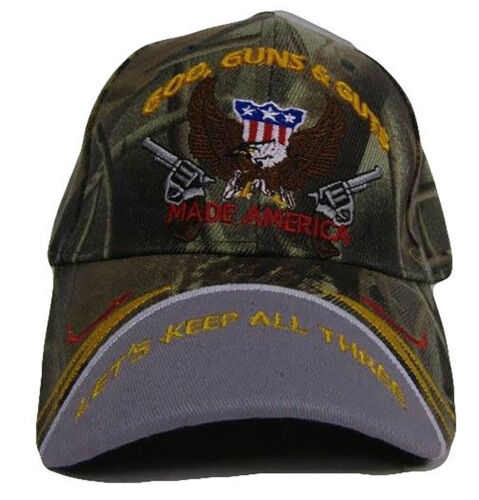 God Guns and Guts Lets Keep All Three Made America Camouflage Cap CAP972C Hat