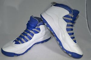 9c4d338ec3e Nike Air Jordan X 10 Retro TXT White/Old Royal-Stealth Royal 487214 ...