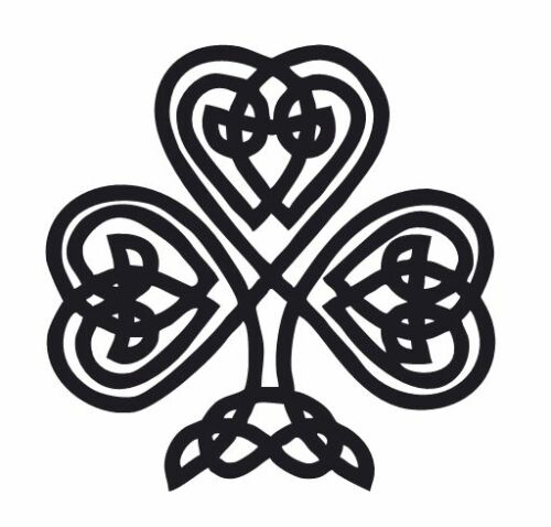 Custom Made to Order Vinyl Sticker Celtic Knot Shamrock 809 Decal
