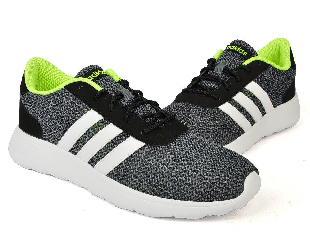Adidas cloudfoam corsa uomini scarpe da ginnastica us-12 nero / grigio / bianco b74588