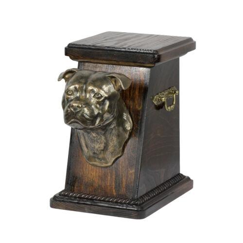 Staffordshire Bull Terrier2 UK- kind3 ArtDog dog urn made of cold cast bronze