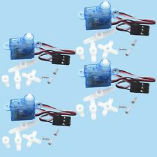 4pcs rc Servo mini micro 3.7g for Rc helicopter Airplane Foamy Plane I
