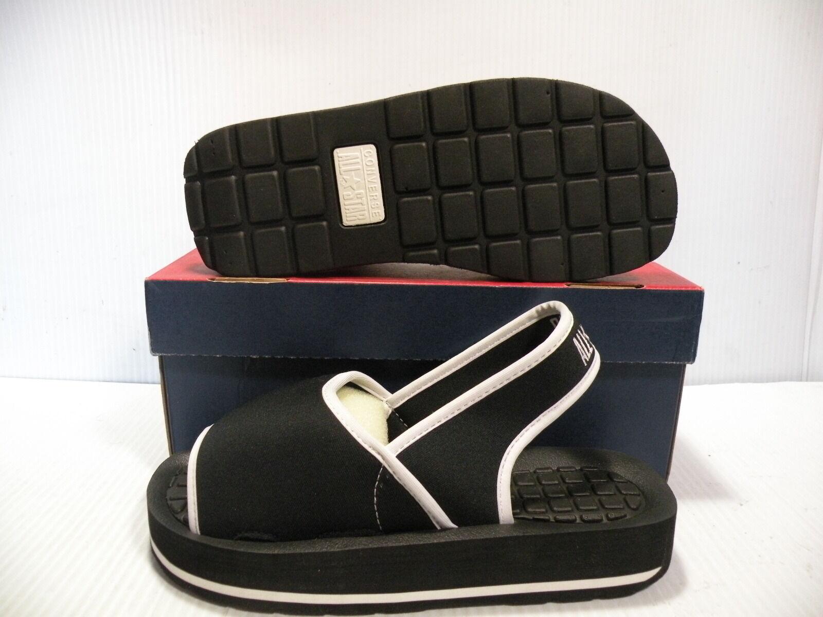 CONVERSE SLING-RAY SANDALS ALL STAR CT WOMEN Schuhe BLACK/WEISS 55160 SIZE 9 NEU