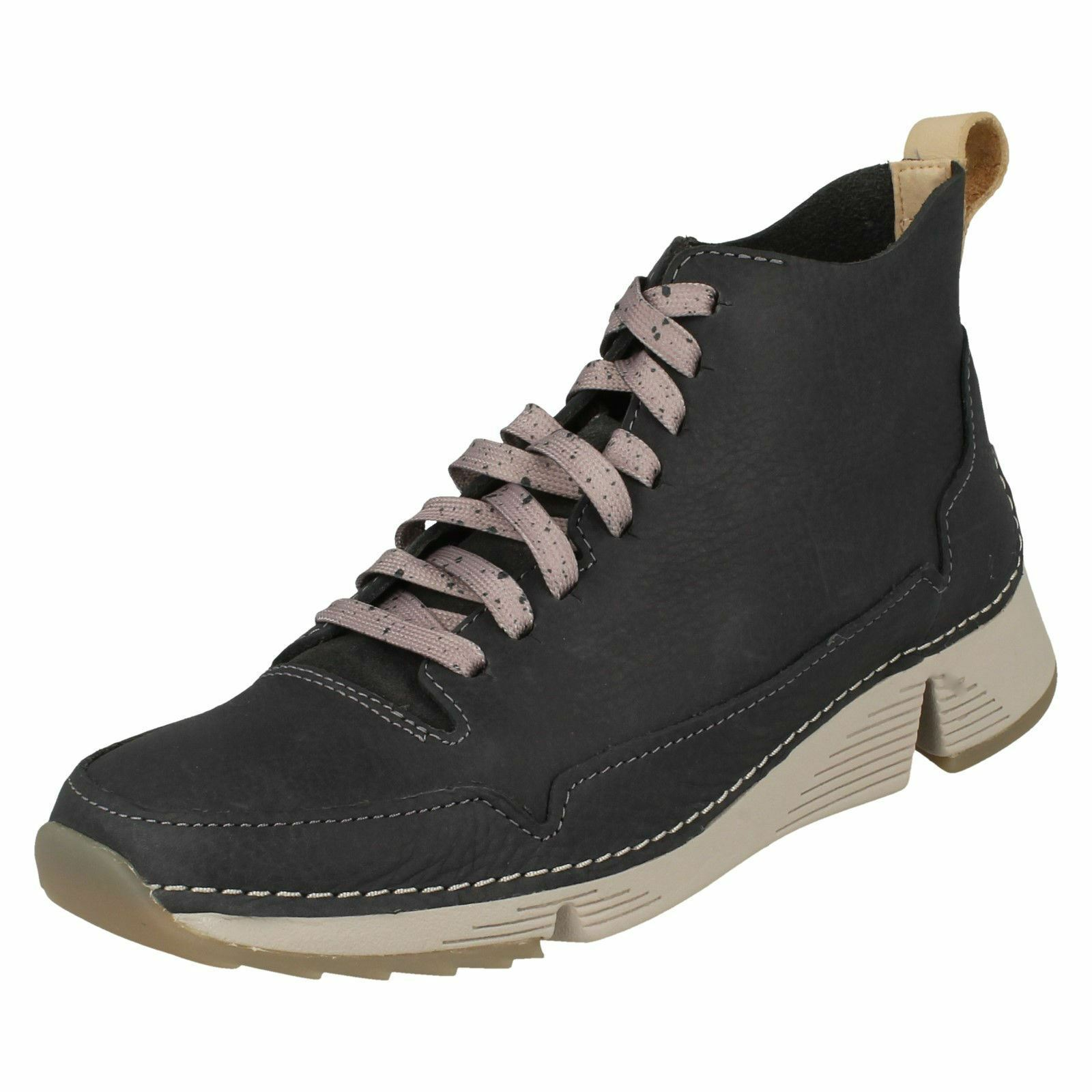 Ladies Clarks Lace Up Sporty Ankle Boot - Tri Free