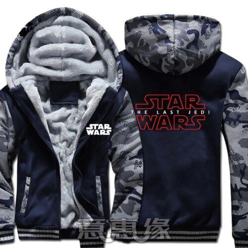 New Star Wars  Hoodie Men Boys Zip Sweatshirt Thick Warm Fleece Coat !