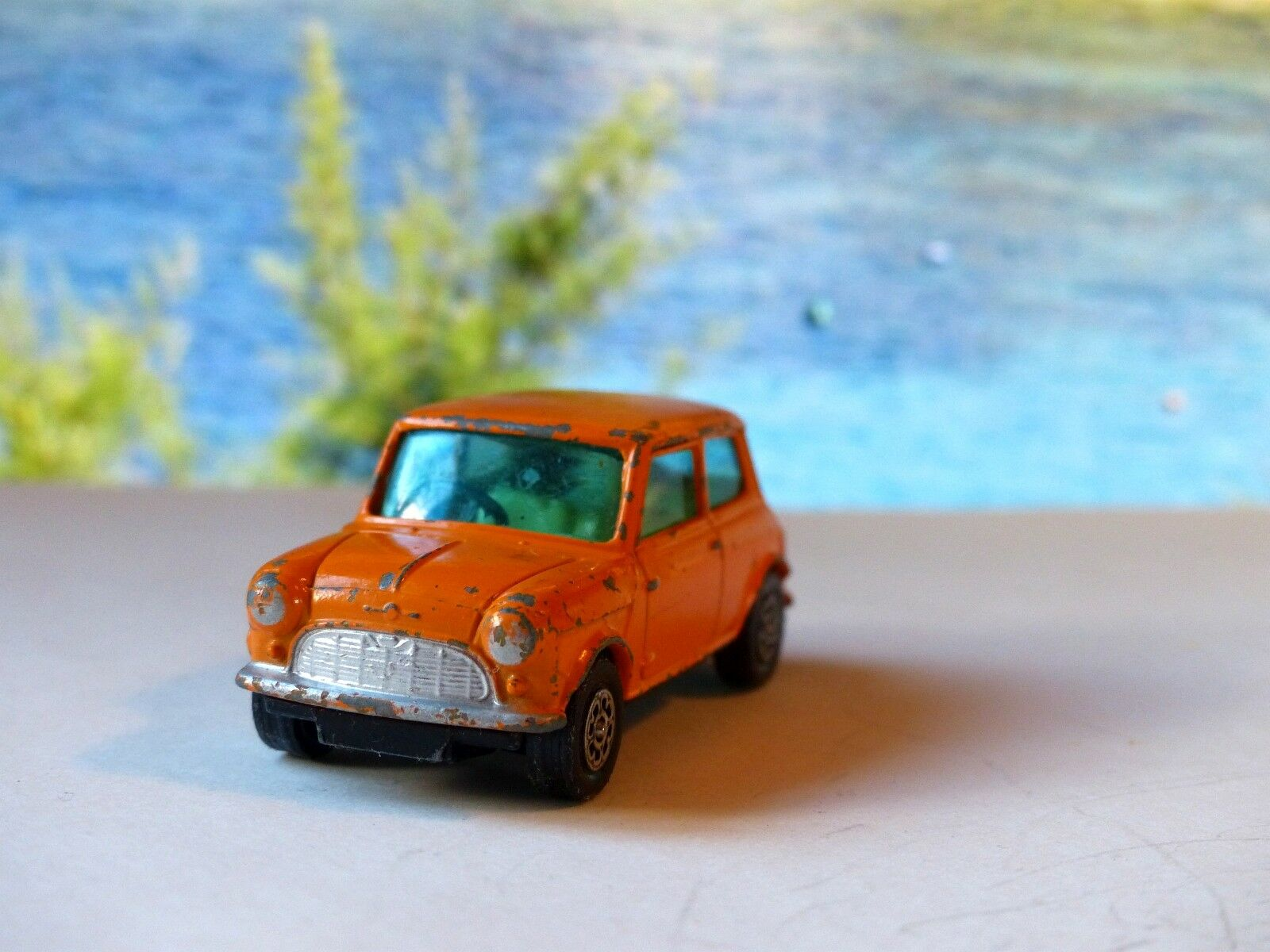 CORGI TOYS 204 Morris Mini Minor Orange With Tinted Widows
