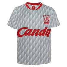 Liverpool 1989-91 Candy Football Sport Away Shirt T-Shirt Tee Top Mens