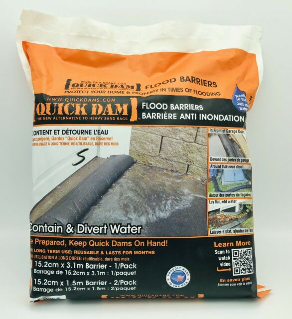 """New Sealed Water Act Flood Barrier, 3-1/2""""Height x 10 ft Length QD610-1"""