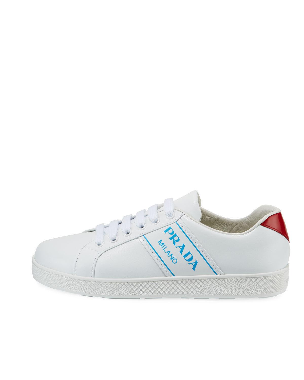 Prada plataforma de logotipo azul azul azul Bajo-Top zapatillas Talla 40 precio minorista sugerido por el fabricante   590.00 bcdd6d