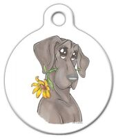 Blue Great Dane Daisy - Custom Personalized Pet Id Tag For Dog And Cat Collars