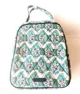 NWOT-Vera-Bradley-Insulated-Lunch-Bag-Quilted-Microfiber-w-ID-Window-Tag-Zipper