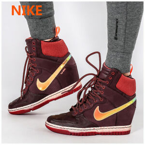 check out d4cde 8ff2a Image is loading Nike-Dunk-Sky-Hi-Sneakerboot-2-0-Burgundy-