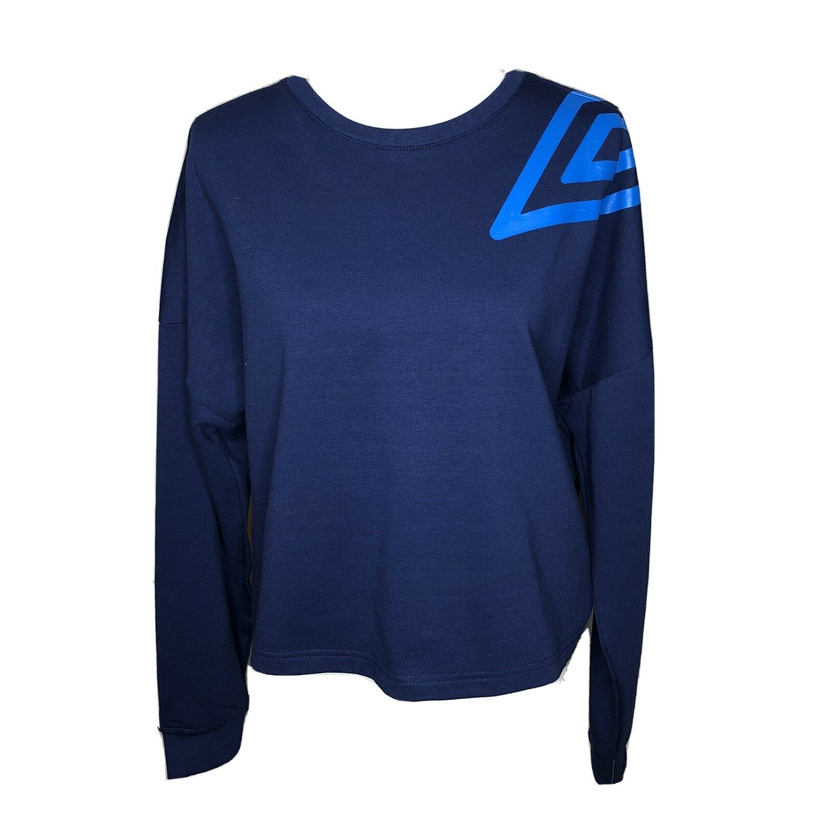 NWT Umbro Womens Sweatshirt Blue Crew Neck Soccer Athleisure Gift Casual Sz XL