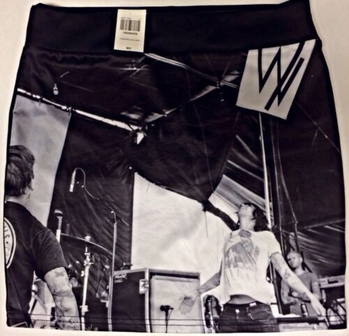 SLEEPING WITH SIRENS NWT OFFICIAL BODY CONTOUR STRETCH HIP HUG FIT MINI SKIRT Md
