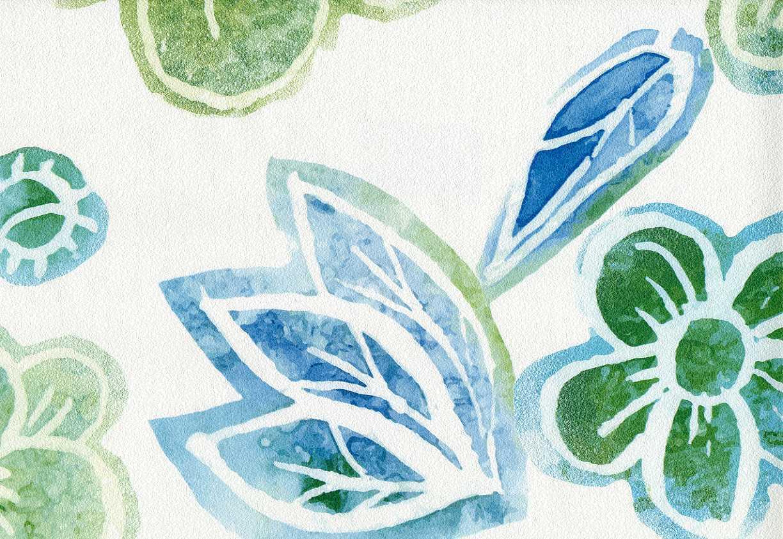 vlies tapete retro blumen muster floral wei gr n blau t rkis 3615 20 ebay. Black Bedroom Furniture Sets. Home Design Ideas