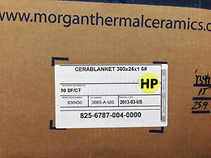 Ceramic Fiber Blanket 2400 1 Quot X 24 Quot X 25 6 Dens Ebay