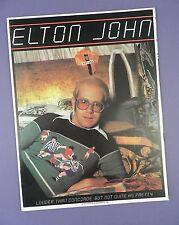 Elton John - Louder Than Concorde Tour- US Concert Programme 1976 - Unused Stock