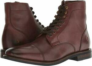 Frye-Mens-Ben-Cap-Toe-Side-Zip-Lace-Up-Business-Casual-Dress-Ankle-Boots
