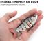 Fishing Lures Multi Articulé réaliste Pike Predator Spinner Natation Lure-Roach