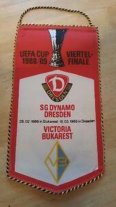 W323-WIMPEL-EC-DYNAMO-DRESDEN-VICTORIA-BUKAREST-15-03-89-DFV-DDR-Sport-Fussball