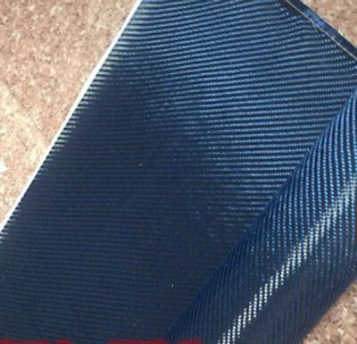 Blue Aramid Carbon Fiber Blended Fabric 200gsm Carbon cloth 50cm*100cm