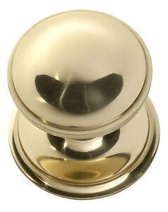 Tradco 1306PB Centre Door Knob Polished Brass 85mm