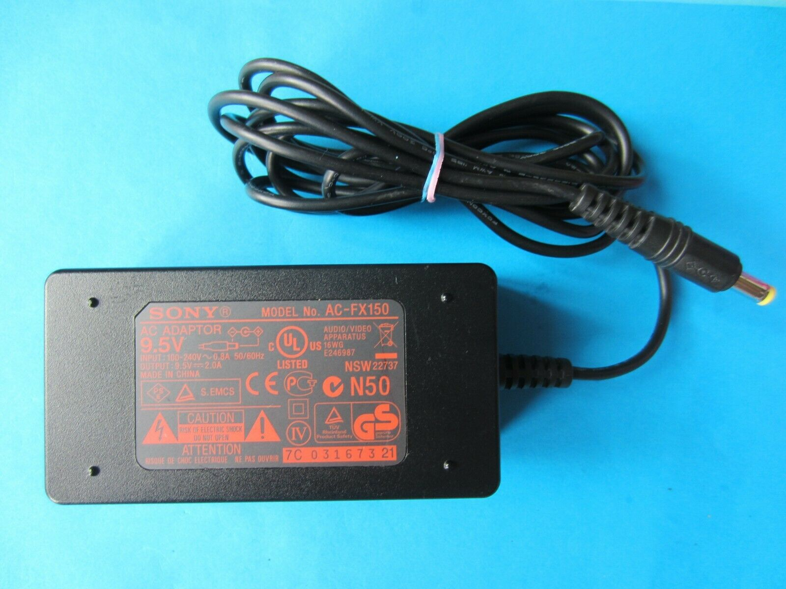 Genuine SONY 9.5V AC Adapter AC-FX150 9.5V 2A For DVD Players See Compatible