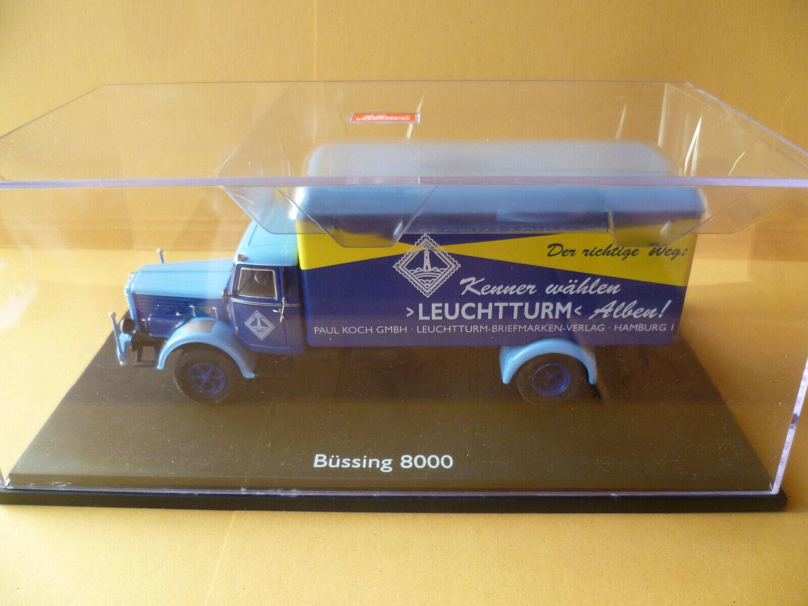 SCHUCO-Edition 1 43 Historischer LEUCHTTURM-Lieferwagen, Büssing 8000 NEU&OVP