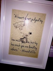 Vintage-Wizard-Of-Oz-QUOTE-Art-picture-LOVE-UNFRAMED