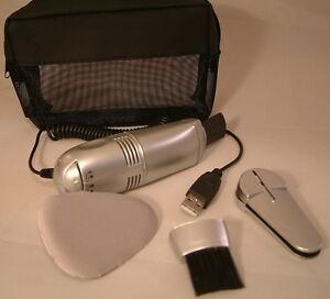 PC-Reinugungs-Set-USB-Mini-Staubsauger-CD-Reiniger-Bildschirm-Reiniger-ovp-NEU