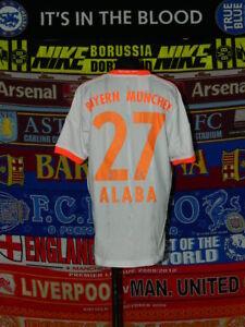 best service d323b 86ce1 Details about 4/5 Bayern Munich boys 13-14 yrs 164cm #27 Alaba football  shirt jersey trikot