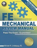 Fe Mechanical Review Manual, Paperback, For Computer Based Exam, 2014 Edition