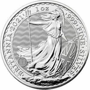 2021 - UK 2 Pound Silver Britannia .999 1 oz Fine silver Brilliant Uncirculated